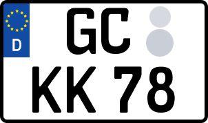 amtliches Eurokennzeichen Glauchau