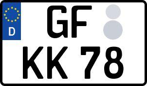 amtliches Eurokennzeichen Gifhorn