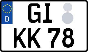 amtliches Eurokennzeichen Gießen