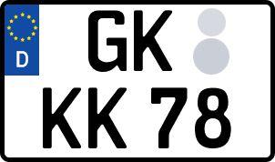 amtliches Eurokennzeichen Geilenkirchen