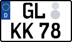 amtliches Eurokennzeichen Bergisch Gladbach