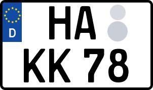 amtliches Eurokennzeichen Hagen