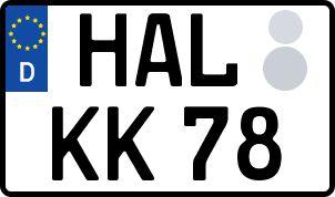 amtliches Eurokennzeichen Halle (Saale)
