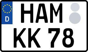 amtliches Eurokennzeichen Hamm