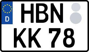 amtliches Eurokennzeichen Hildburghausen