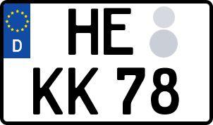 amtliches Eurokennzeichen Helmstedt