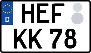 Vorgang zum Wunschkennzeichen in Bad Hersfeld