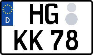 nummernschilder hg