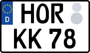 Die besten Wunsch-Kennzeichen in Horb
