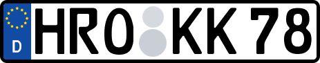 amtliches Eurokennzeichen Hansestadt Rostock