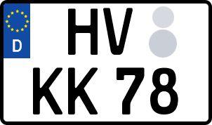 amtliches Eurokennzeichen Havelberg