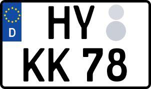 amtliches Eurokennzeichen Hoyerswerda