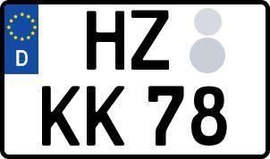 amtliches Eurokennzeichen Harz