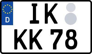 amtliches Eurokennzeichen Ilm-Kreis