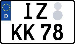 amtliches Eurokennzeichen Itzehoe