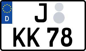 Vorgang zum Wunschkennzeichen in Jena