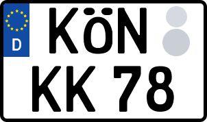 So erhält man sein persönliches Wunschkennzeichen in Bad Königshofen im Grabfeld