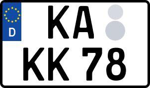 amtliches Eurokennzeichen Karlsruhe