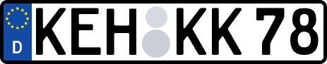 amtliches Eurokennzeichen Kelheim