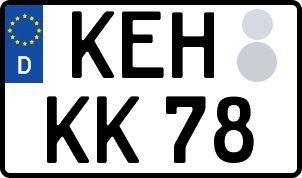 Vorgang zum Wunschkennzeichen in Kelheim