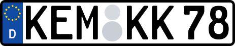 amtliches Eurokennzeichen Kemnath