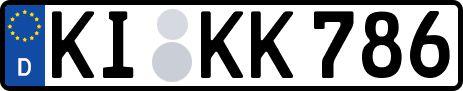 amtliches Eurokennzeichen Kiel