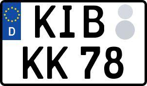 amtliches Eurokennzeichen Kirchheimbolanden