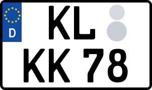 amtliches Eurokennzeichen Kaiserslautern