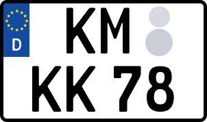 amtliches Eurokennzeichen Kamenz
