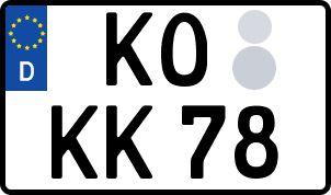 amtliches Eurokennzeichen Koblenz