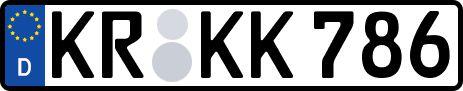 amtliches Eurokennzeichen Krefeld