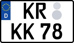 Die besten Wunsch-Kennzeichen in Krefeld