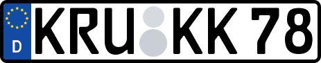 amtliches Eurokennzeichen Krumbach (Schwaben)