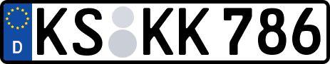amtliches Eurokennzeichen Kassel