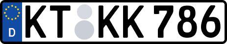 amtliches Eurokennzeichen Kitzingen