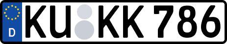 amtliches Eurokennzeichen Kulmbach