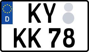 amtliches Eurokennzeichen Kyritz