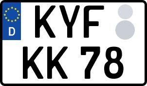 amtliches Eurokennzeichen Kyffhäuser