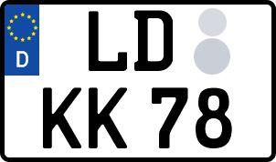 amtliches Eurokennzeichen Landau in der Pfalz