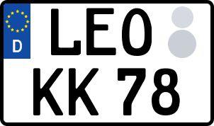 amtliches Eurokennzeichen Leonberg