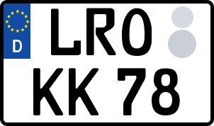 amtliches Eurokennzeichen Landkreis Rostock