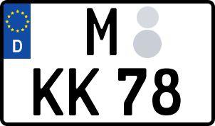 amtliches Eurokennzeichen München