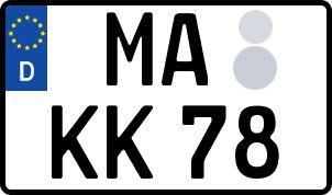 amtliches Eurokennzeichen Mannheim