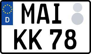 amtliches Eurokennzeichen Mainburg