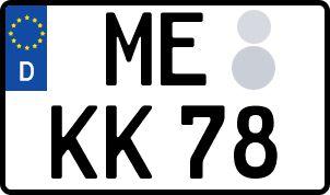amtliches Eurokennzeichen Mettmann