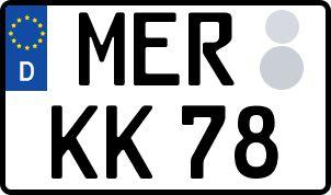 amtliches Eurokennzeichen Merseburg