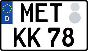 amtliches Eurokennzeichen Mellrichstadt