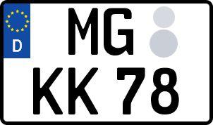 amtliches Eurokennzeichen Mönchengladbach