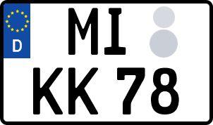 amtliches Eurokennzeichen Minden