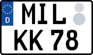 amtliches Eurokennzeichen Miltenberg